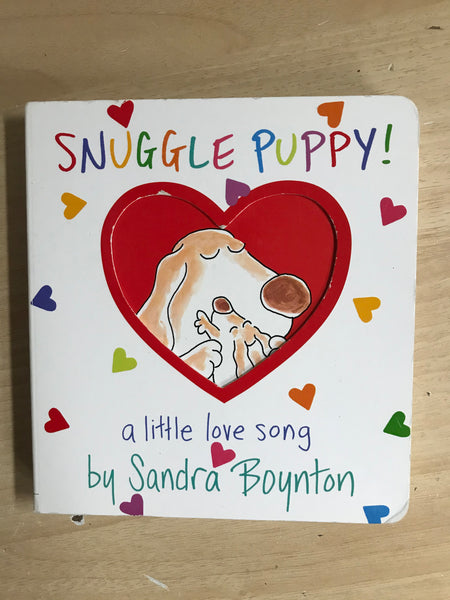 Sandra Boynton Snuggle Puppy Book Toddler Board Book