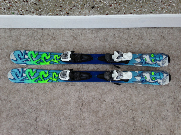 Ski 100 K-2 Indy Parabolic Blue Multi With Bindings