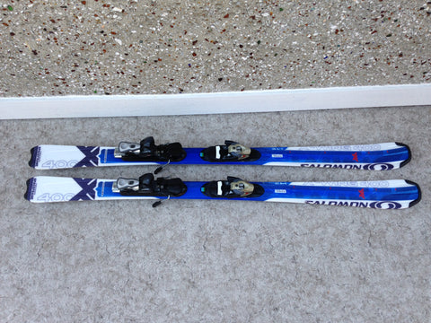 Ski 145 Salomon Space Frame Blue White Parabolic With Bindings