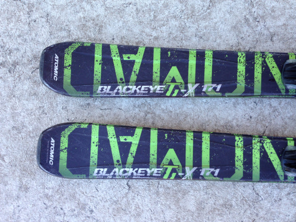 Ski 171 Atomic Blackeye Parabolic Black Green With Bindings