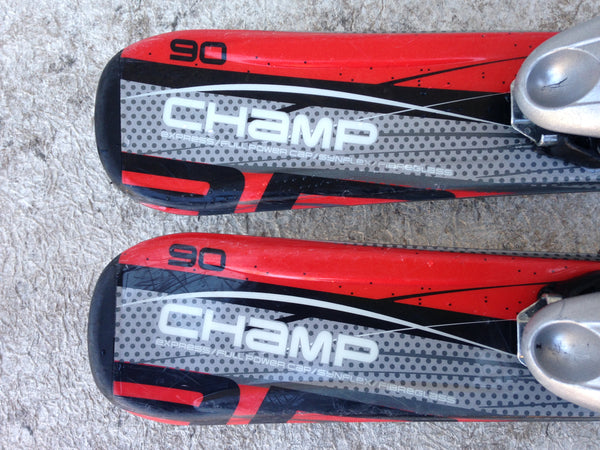 Ski 90 Elan Champ Parabolic Red Black White With Bindings Excellent