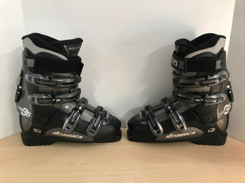 Ski Boot Mondo Size 26.0 Men's Size 8 Ladies Size 9 300 mm Nordica Next Black Grey As New