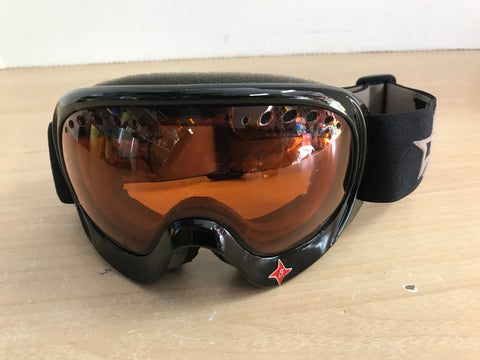 Ski Goggles Adult Size Large Gordini Big Orange Lense Excellent