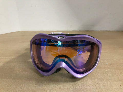 Ski Goggles Adult Size Small Smith Purple with Orange Lense Excellent