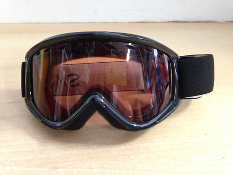 Ski Goggles Adult Size Smith Black White Name New Demo Model
