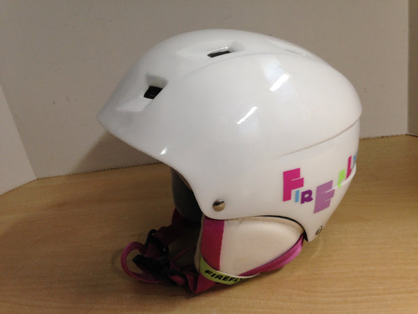 Ski Helmet Child Size 4-7 Firefly Sweety White Pink Excellent