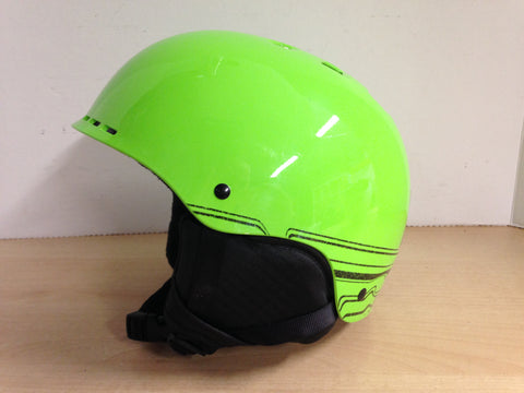 Ski Helmet Child Size Youth Medium 8-12 Smith Lime and Black As New