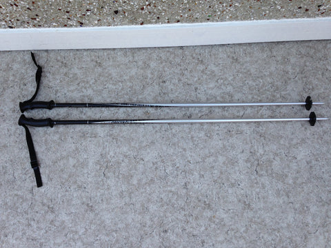 Ski Poles Adult Size 49 inch Salomon North Pole Black Grey Excellent