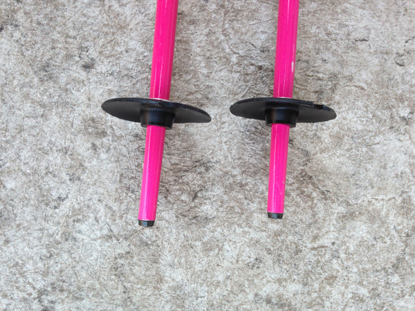 Ski Poles Child Size 42 inch Scott Pink Purple Rubber Handles Excellent