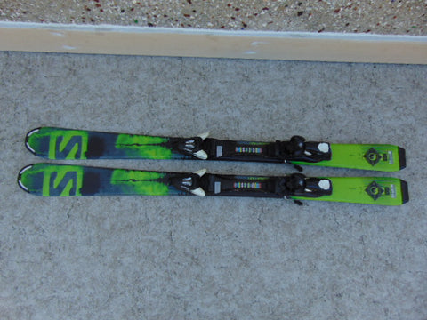 Ski 120 Salomon Parabolic Green and Black With Binding