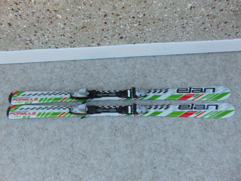 Ski 140 Elan Formula White Lime Black Red Parabolic With Bindings Excellent