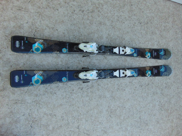 Ski 144 Rossignol Temptation Parabolic Black Blue White  With Bindings