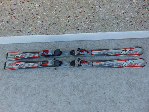 Ski 150 Nordica Parabolic Black Grey Red With Bindings