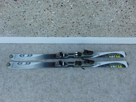 Ski 160 Salomon Grey White Parabolic With Bindings