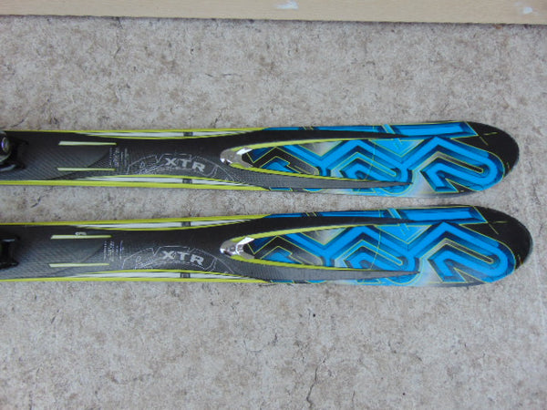 Ski 163 K-2 XTR  Parabolic Twin Tip Blue Black Lime With Bindings