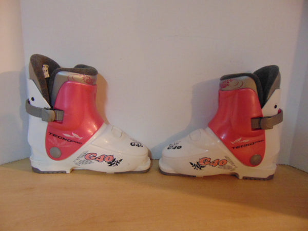 Ski Boots Mondo Size 20.0 Child Shoe Size 1-2 Toddler 251 mm Nordica White Pink