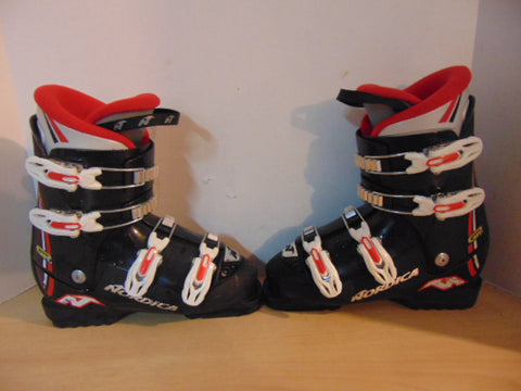 Ski Boots Mondo Size 24.5 Men's Size 6.5 Ladies Size 7.5 280 mm Nordica Black Red White