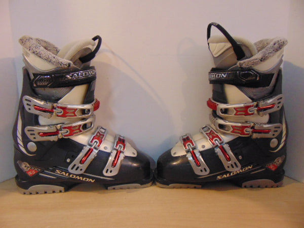 Ski Boots Mondo Size 25.0 Ladies size 8  298 mm Salomon Marine Blue Grey Excellent