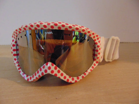 Ski Goggles Adult Size Anon With Red Dots Mirrored Lense
