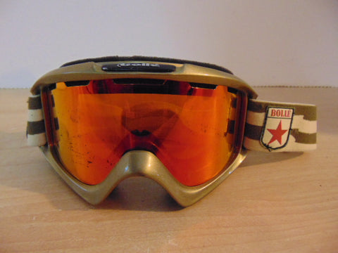Ski Goggles Adult Size Bolle Sage with Orange Mirrored Lense