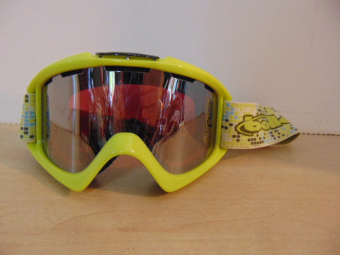 Ski Goggles Adult Size Lime Mirrored Lenses