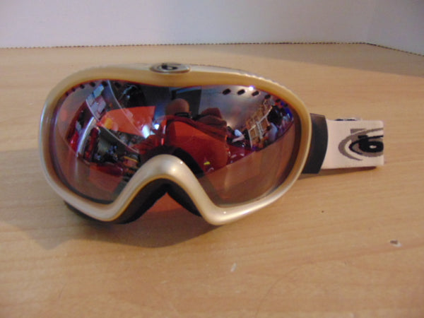 Ski Goggles Adult Size Small Bollet Silver With Tinted Lense