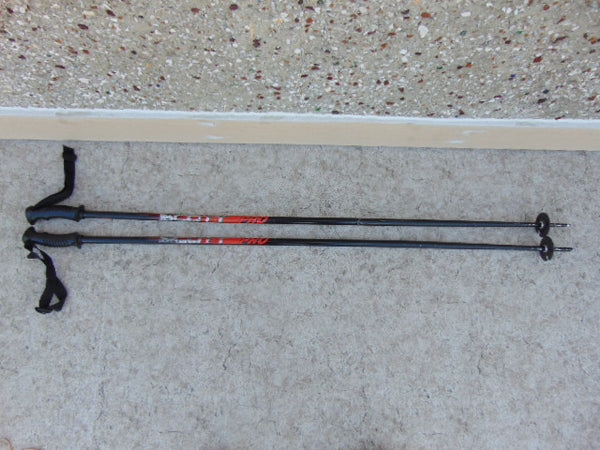 Ski Poles Adult Size 50 inch Scott Pro With Rubber Handles Black Red