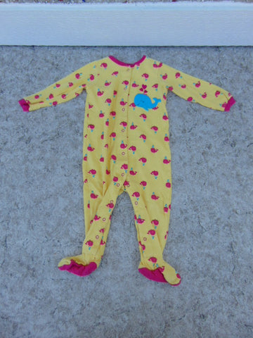 Sleeper Child Size 18 Month Pekkle Yellow Fushia Whale Cotton