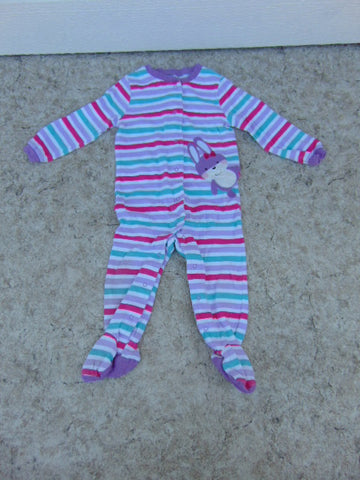 Sleeper Child Size 18 Month Pekkle Purple Stripes Bunny Cotton