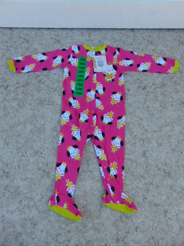 Sleeper Child Size 18 Month Pekkle Pink Lime Princess Cotton NEW TAGS