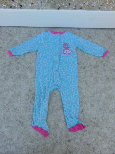 Sleeper Child Size 24 Month Pekkle Blue Pink Monkey Cotton