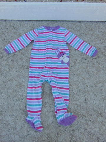 Sleeper Child Size 24 Month Pekkle Purple Stripe Bunny Cotton
