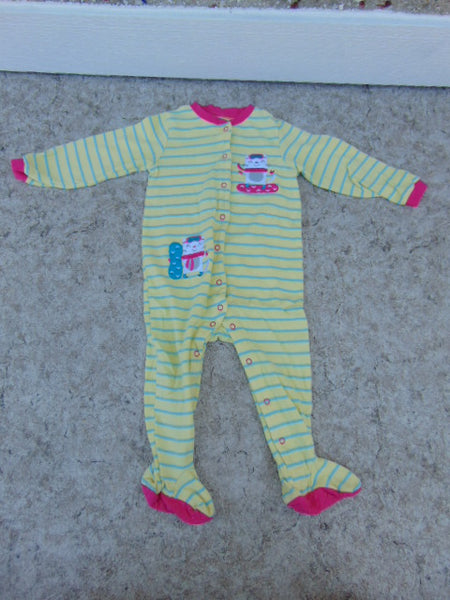 Sleeper Child Size 24 Month Pekkle Yellow Stripe Snowboarder Cotton