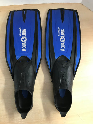 Snorkel Dive Fins Ladies Size 5-6 Shoe Aqua Lung Blue Black Excellent