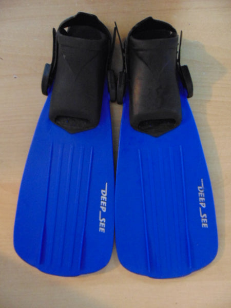 Snorkel Dive Fins Child Size 1-3 Shoe Size Deep Sea Blue Black Swim Fins