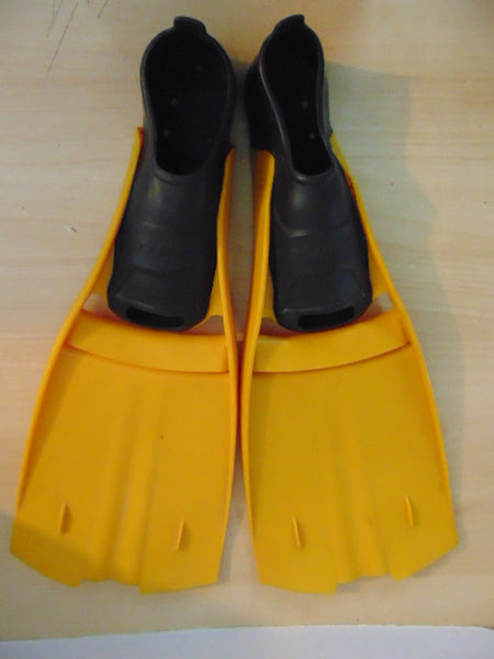 Snorkel Dive Fins Ladies Size 9-10 Shoe Size Dolfino Black Orange Swim Fins