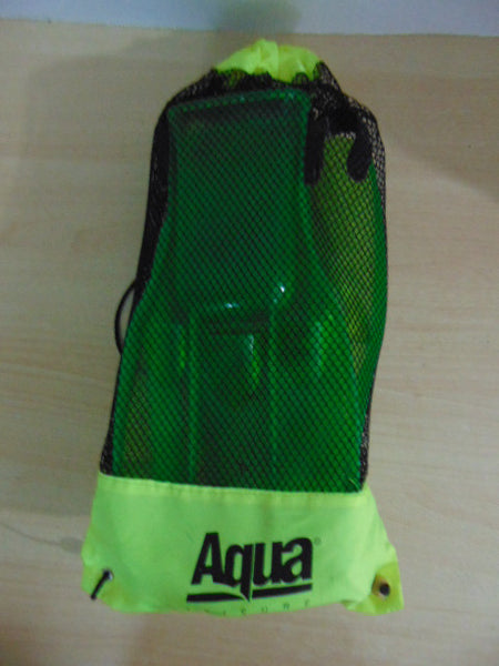 Snorkel Dive Fins Set Child Shoe Size 1-4 Shoe Aqua Green
