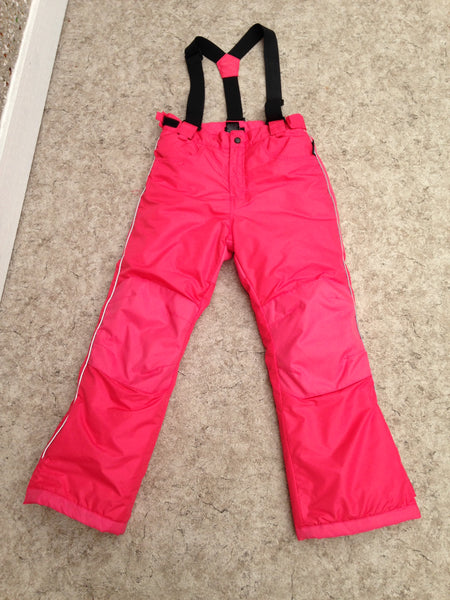 Snow Pants Child Size 10-12 Alpine Coral With Removeable Straps New Demo Model