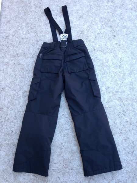 Snow Pants Child Size 10-12 Board Dokter Snowboarding With Removeable Straps Adjustable Waist Black New Demo Model