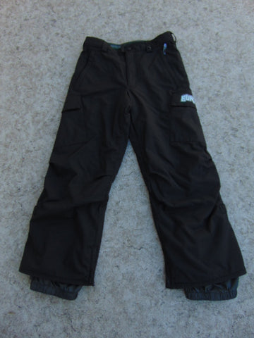 Snow Pants Child Size 10-12 Burton Black Snowboarding As New Fantastic Quality