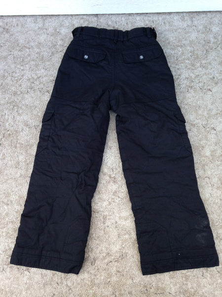Snow Pants Child Size 10 Coltech Black With Adjustable Waist