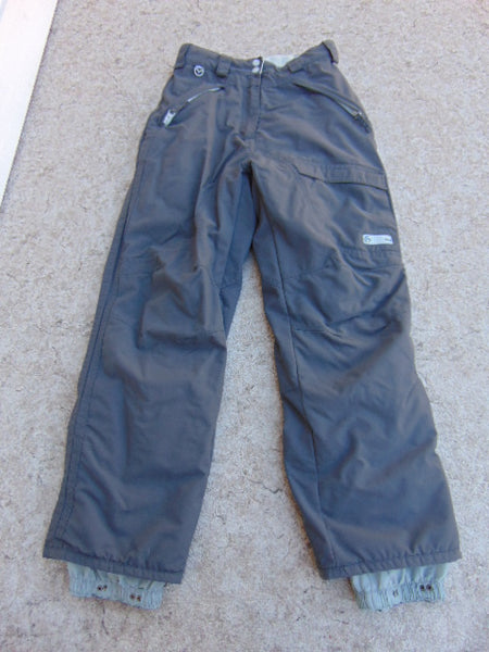 Snow Pants Child Size 12 Mole Grey  Fleece Lined Inside Snowboarding Excellent
