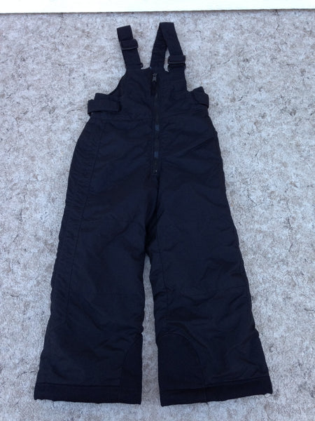 Snow Pants Child Size 4-5 Columbia Black With Bib New Demo Model