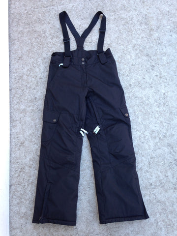 Snow Pants Ladies Size Large Firefly Black Teal Micro Fleece Lining Straps New Demo Model