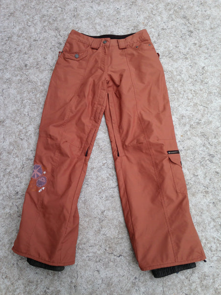 Snow Pants Ladies Size X Small Powder Room Bronze Snowboarding Excellent