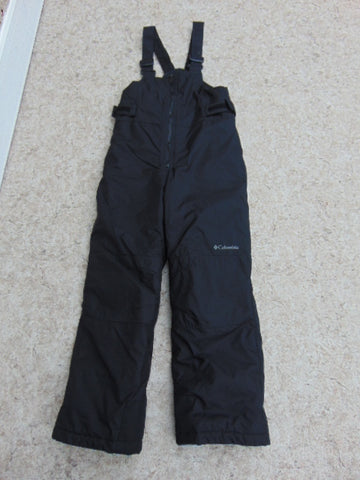 Snow Pants Child Size 10-12 Columbia With Bib Black Snowboarding Excellent