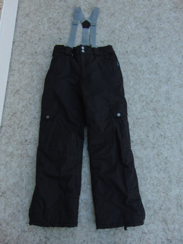 Snow Pants Child Size 10-12 Gravity  Black With Removable Straps New Demo Model