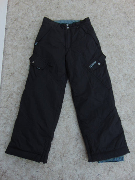 Snow Pants Child Size 10-12 Ripzone  Black Snowboarding New Demo Model