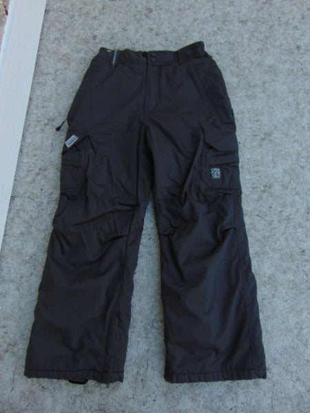 Snow Pants Child Size 10-12 Ripzone Core Dark Grey Snowboarding As New
