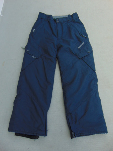 Snow Pants Child Size 10-12 Ripzone Core Marine Blue Snowboarding Excellent